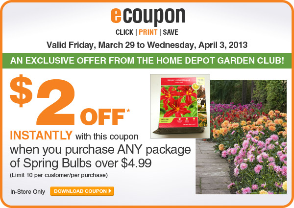 ecoupon: $2 Off Any Spring Bulbs Over $4.99 - DOWNLOAD COUPON