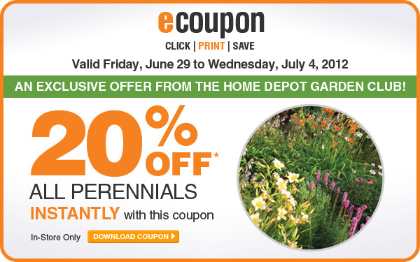 eCoupon: 20% All Off Perennials - DOWNLOAD COUPON