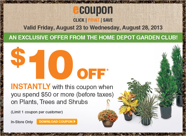 Save $10 When You Spend $50+ on Plants, Trees & Shrubs - DOWNLOAD COUPON