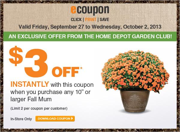 ecoupon: $3 Off Fall Mums - DOWNLOAD COUPON