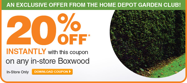 20% Off Any In-Store Boxwood - DOWNLOAD COUPON