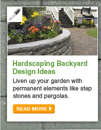 Hardscaping Backyard Design Ideas - Liven up your garden with permanent elements like step stones and pergolas. - READ MORE