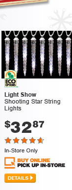 Light Show Shooting Star String Lights - DETAILS