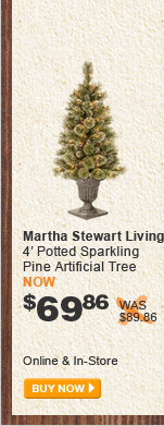 Martha Stewart Living 4' Potted Sparkling Pine Artificial Tree - BUY NOW