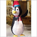Home Accents Holiday Collapsible Penguin with Clear Lights – 4 Feet