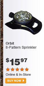 Orbit 8-Pattern Sprinkler - BUY NOW