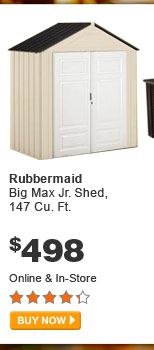 Rubbermaid Big Max Jr. Shed, 147 Cu. Ft. - BUY NOW