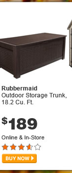 Rubbermaid Outdoor Storage Trunk, 18.2 Cu. Ft. - BUY NOW