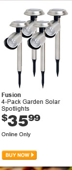 Fusion 4-Pack Garden Solar Spotlights - BUY NOW