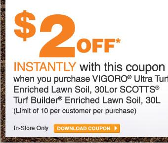 ecoupon: $2 Off Vigoro or Scotts Lawn Soil - DOWNLOAD COUPON