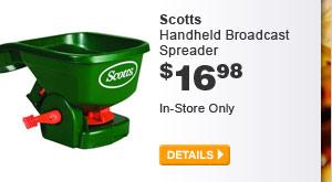 Scotts Handheld Broadcast Spreader - DETAILS