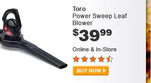 Toro Power Sweep Leaf Blower - BUY NOW