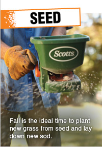 SEED - Fall is the ideal time to plant new grass from seed and lay down new sod.