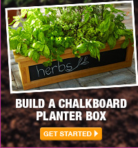 Build a Chalkboard Planter Box - GET STARTED