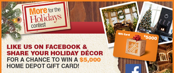 Facebook Contest: Win a $5,000 Home Depot Gift Card