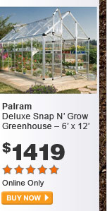 Palram Deluxe Snap N' Grow Greenhouse – 6' x 12' - BUY NOW