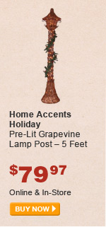 Home Accents Holiday Pre-Lit Grapevine Lamp Post – 5 Feet - BUY NOW