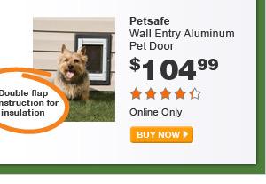 Petsafe Wall Entry Aluminum Pet Door - BUY NOW