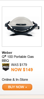 Weber Q 100 Portable Gas BBQ - BUY NOW