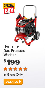 Homelite Gas Pressure Washer - DETAILS
