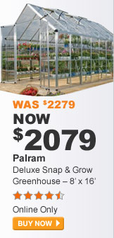 Palram Deluxe Snap & Grow Greenhouse - 8' x 16' - BUY NOW