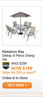 Hampton Bay Delray 8-Piece Dining Set - BUY NOW