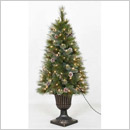 Martha Stewart Living Pre-Lit Milliary Spruce Potted Tree – 4'